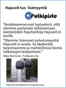 HajuveX-referenssi, Putkipiste